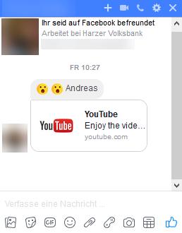 Dubioser YouTube-Link in Facebook-Messenger
