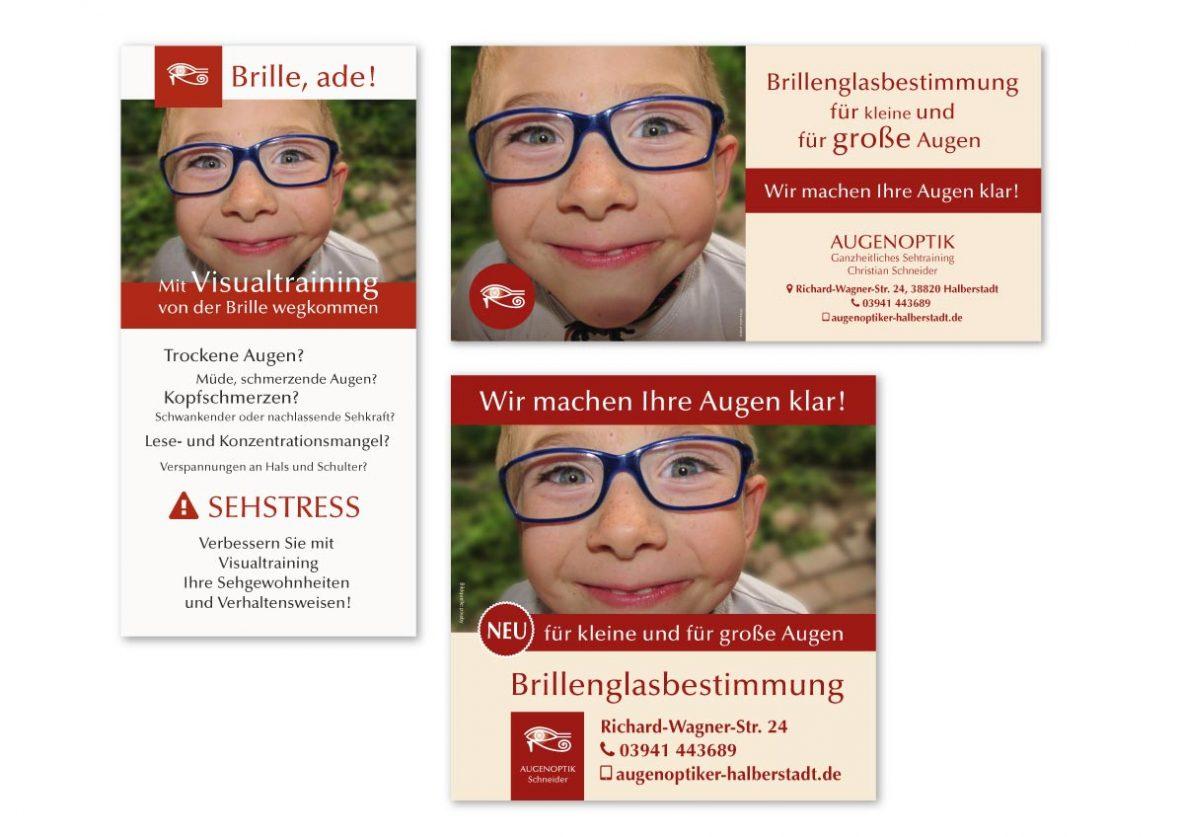 Referenzen-Grafikdesign-Werbung-Augenoptik-Schneider