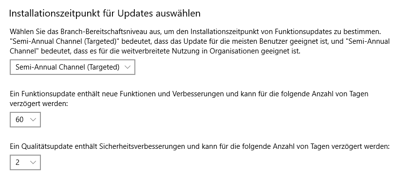 Windows 10: (Windows-)Einstellungen > Update und Sicherheit > Erweiterte Optionen
